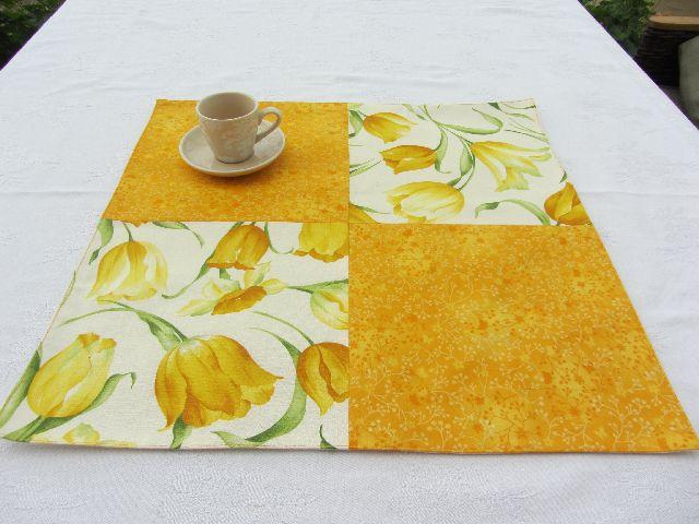 Ubrus s tulipány žluté čtverce